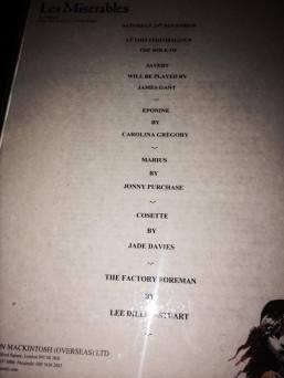 Les Miserables Cover List