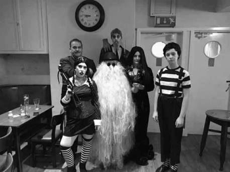 Jennifer Hills and Family as The Addams Family