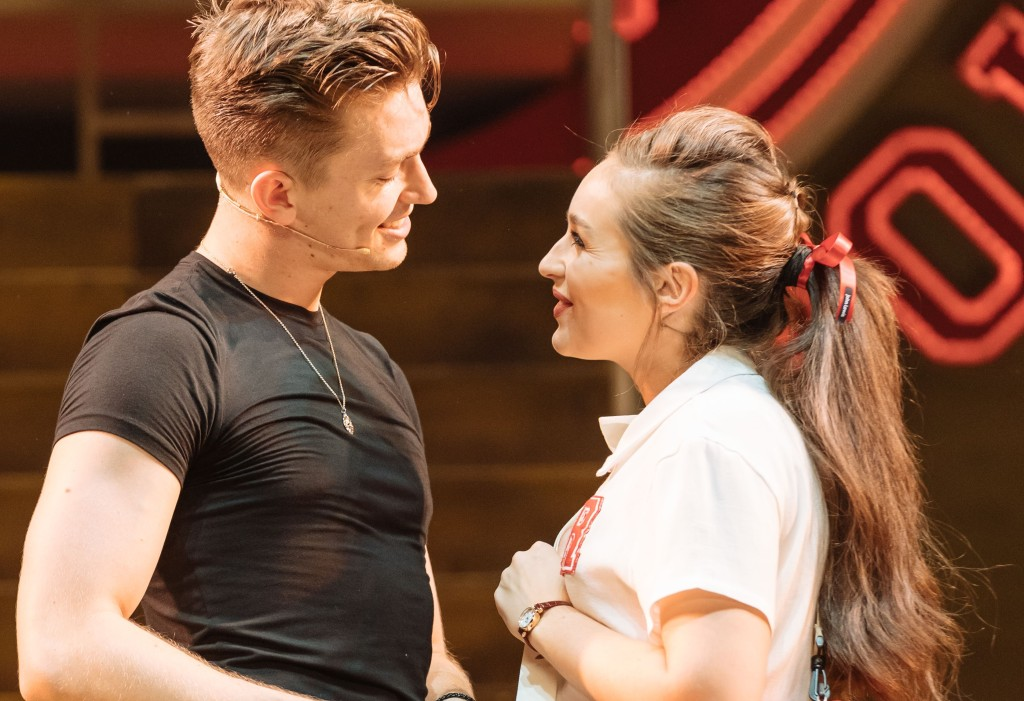 Dan Partridge and Martha Kirby in the UK Tour of Grease